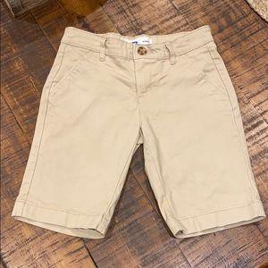 Girls Old Navy Bermuda Khaki Shorts - size 10